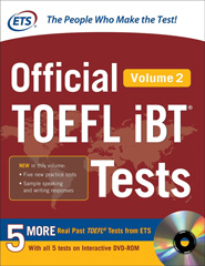 Official TOEFL iBT Tests with DVD-ROM Volume 2
